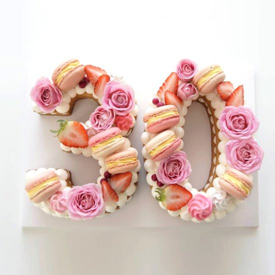 Number Cake, la nouvelle tendance des gâteaux d´anniversaire