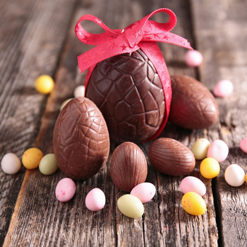 Repartir avec ses chocolats de Pâques
