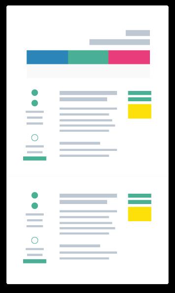 illustration simplifiée d'un catalogue de formation en ligne créé par linscription.com pour organiser des formations